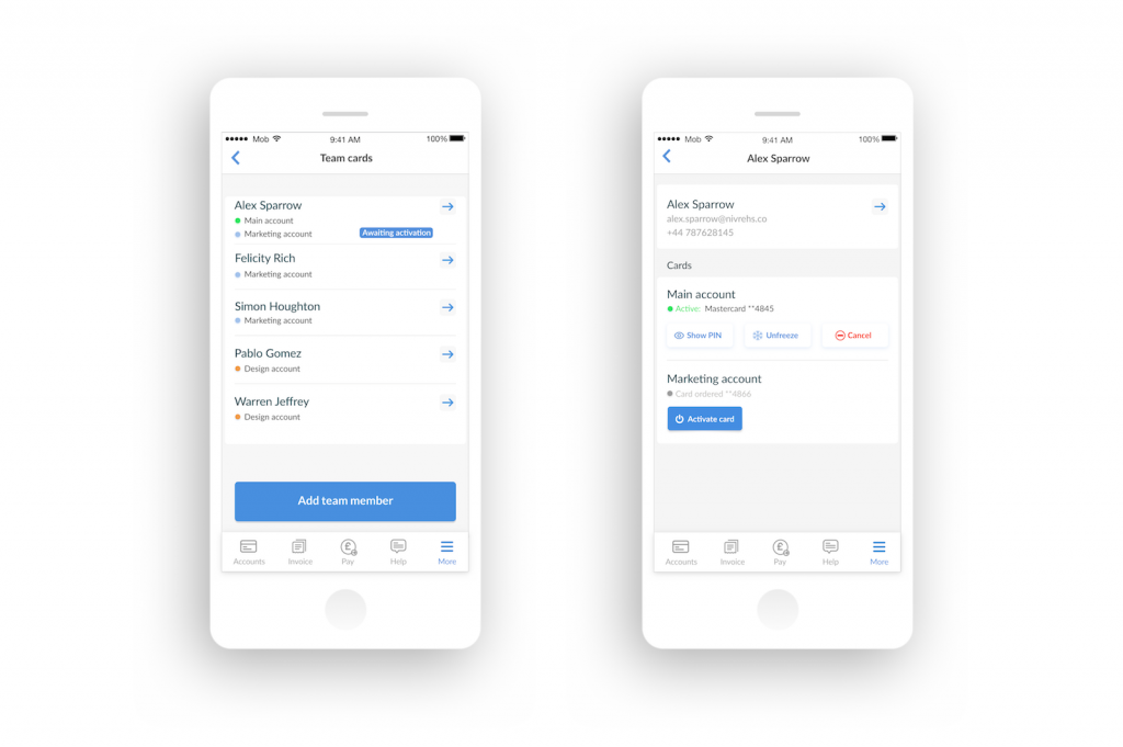 Android users can now order cards for their team members