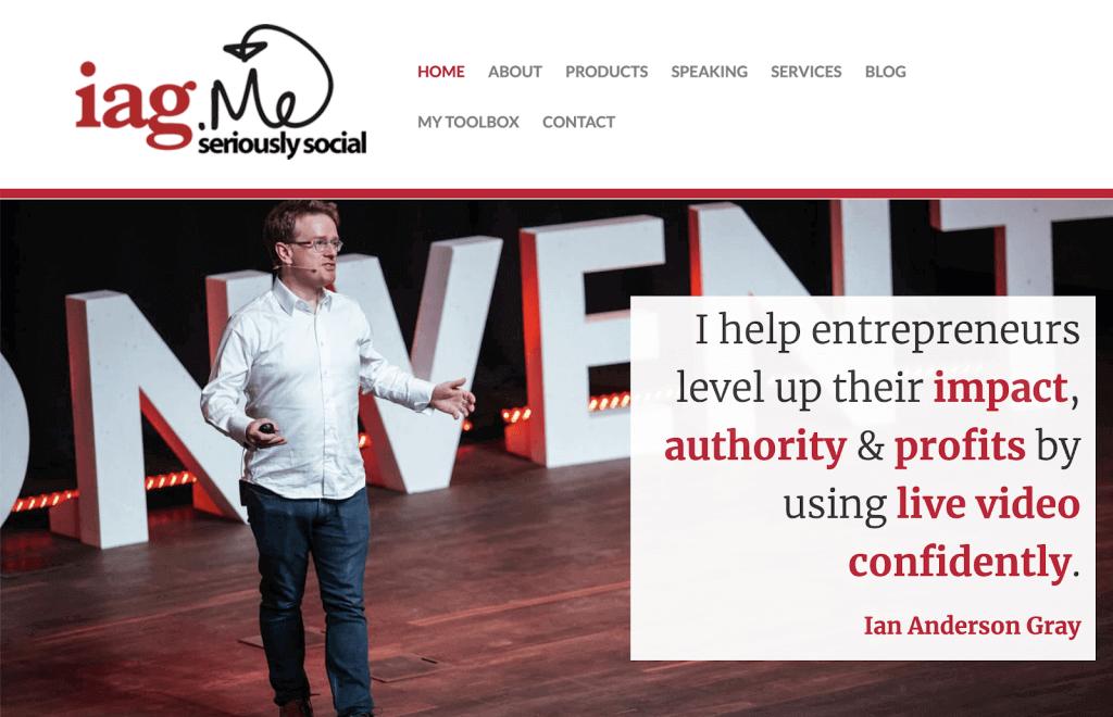 Ian Anderson Gray Seriously Social website