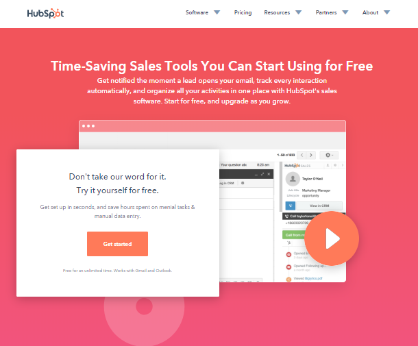 Small Business Software - HubSpot Sales