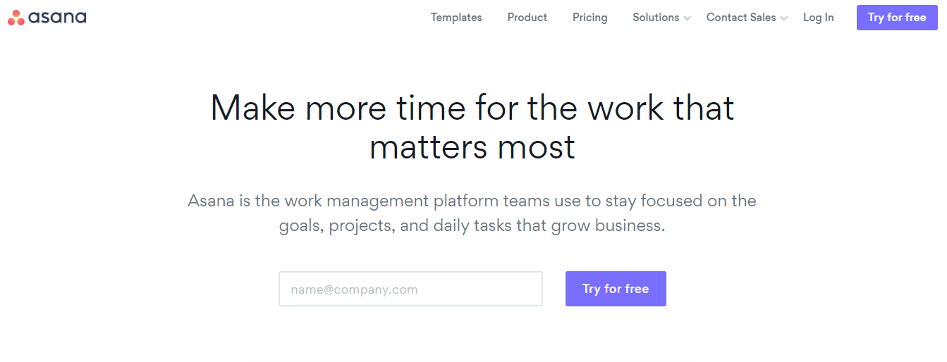 Small Business Software - Asana