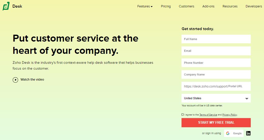 Small Business Software - Zoho Desk