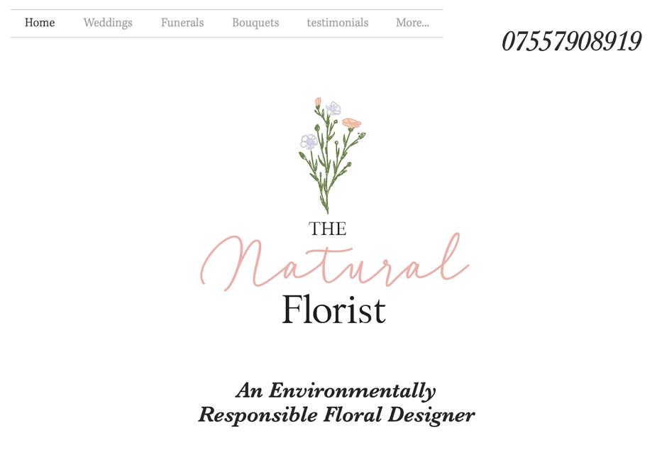 Screenshot The Natural Florist Website