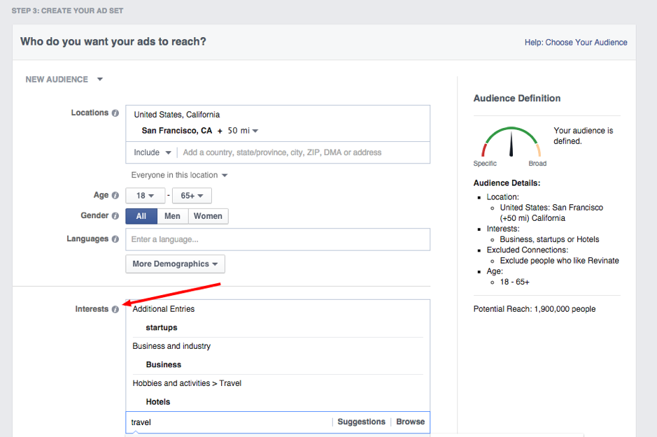 Screenshot Facebook Ad Dashboard for Video Marketing with Facebook Targeting