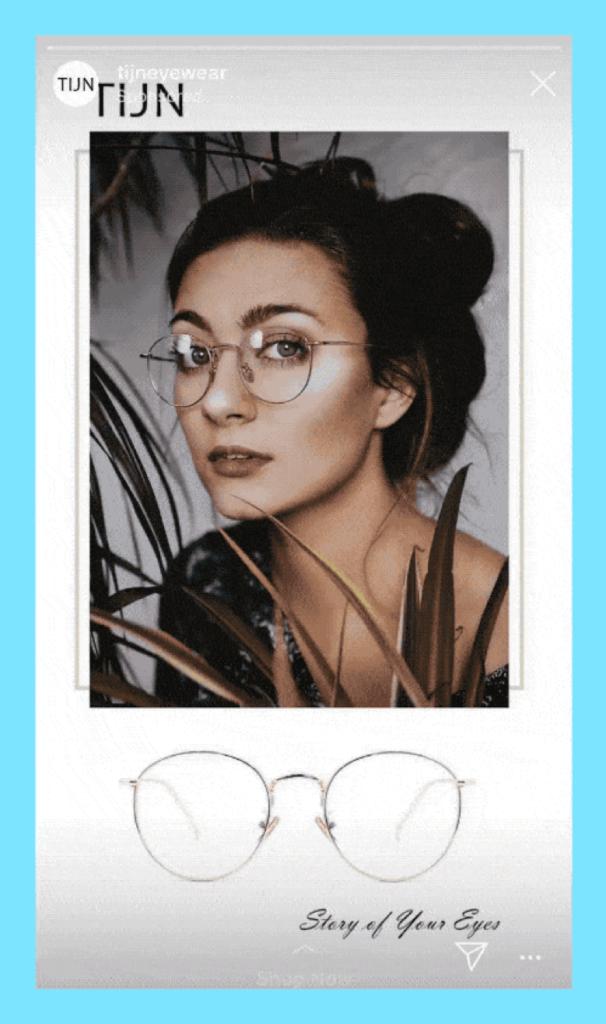 Screenshot TIJN eyewear Instagram video marketing campaign