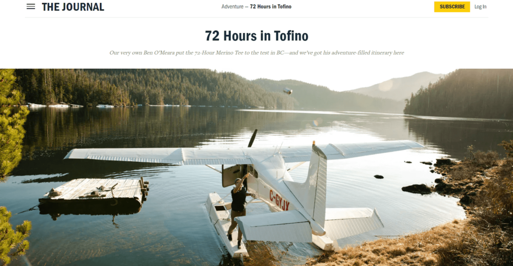 Business Storytelling - Blog post by Huckberry