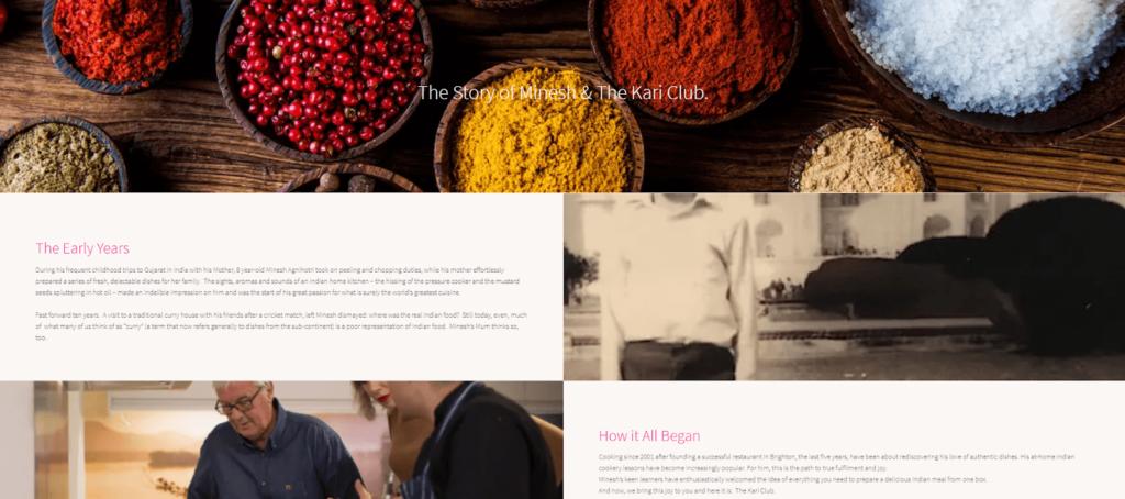 Screenshot The Kari Club website