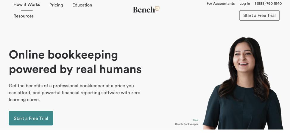 How to Start a Business - Screenshot Bench Website