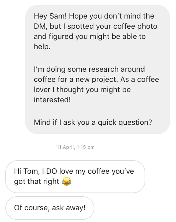 How to Start a Business - Instagram Outreach Example