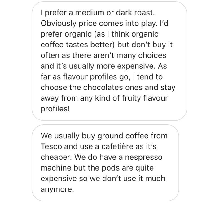 How to Start a Business - Instagram Message Giving Insights