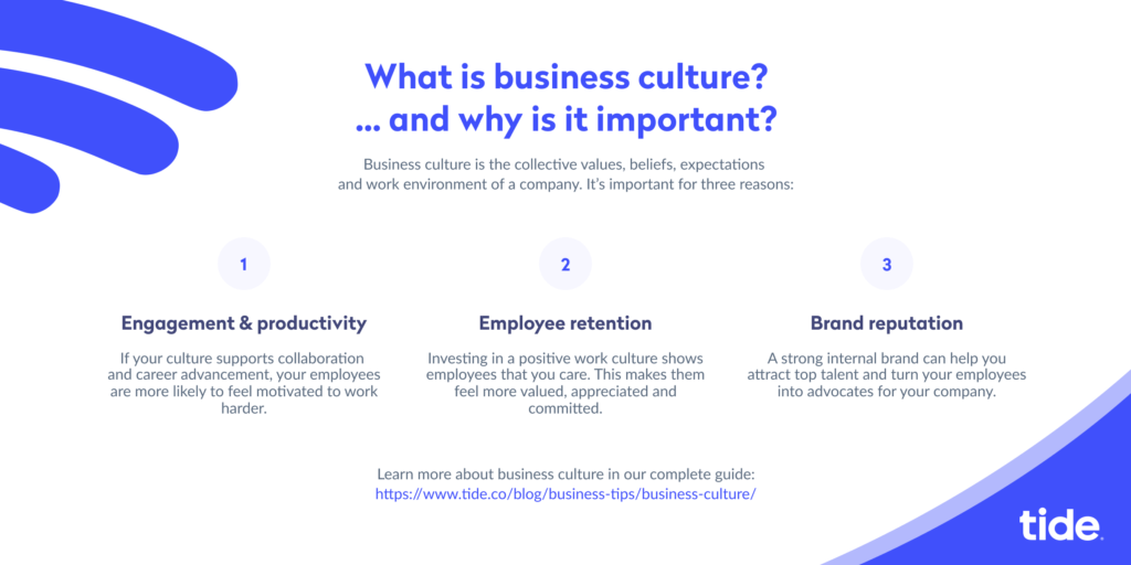 Business culture infographic