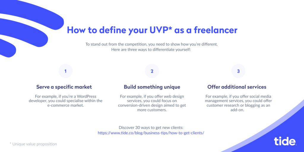 How to get clients UVP infographic