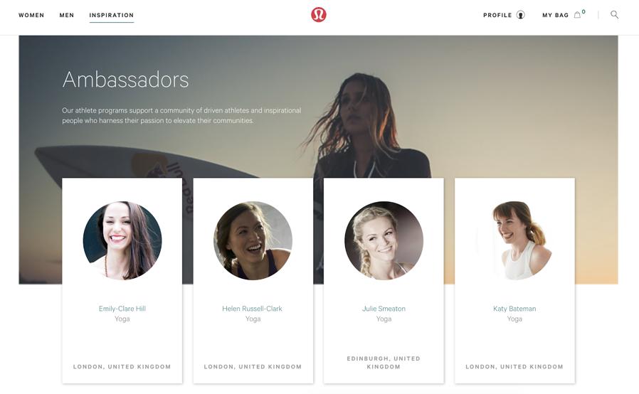 Marketing strategy example Lululemon brand ambassadors