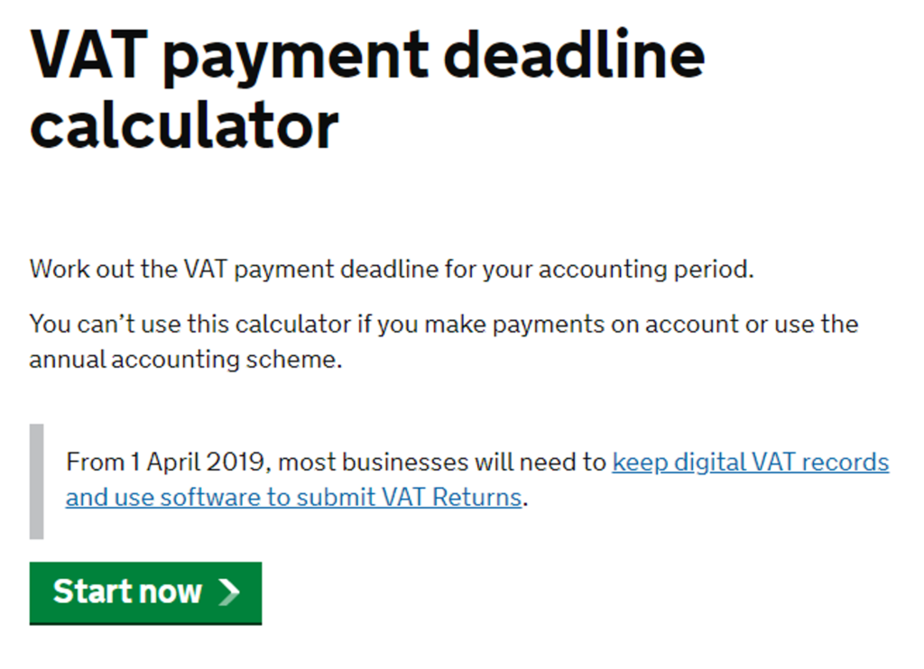 payment deadline calculator