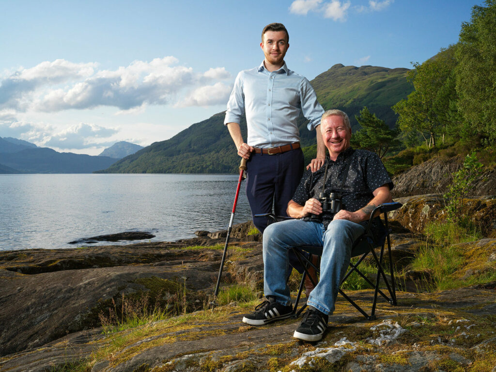 Steven and George Lindsay, the father-son team guiding tourists through the Highlands