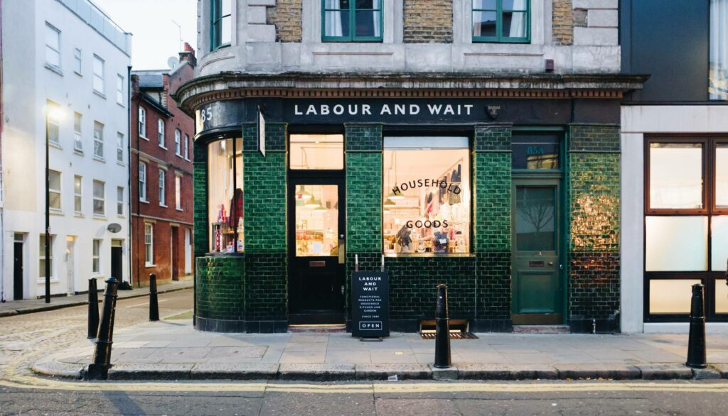 Shop in Shoreditch, London. Photo by Tomas Anton Escobar on Unsplash