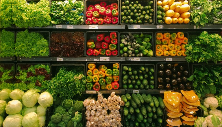 Veg shelves. Photo by nrd on Unsplash