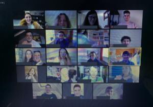 Mortal Fools team in a video meeting