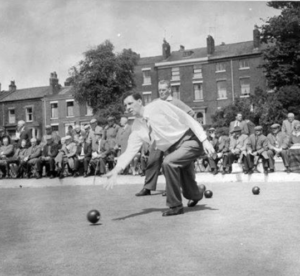 Veteran Club member Tony Walton, in a photo from the Whitefield Bowling Club's archive