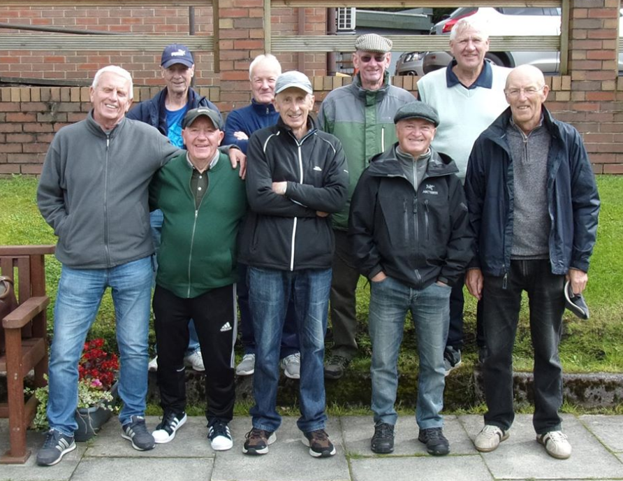 Whitefield Bowling Club's team, winners of the Prestwich and Whitefield First Division, 2019