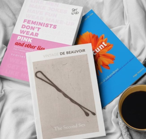 Feminist books and coffee