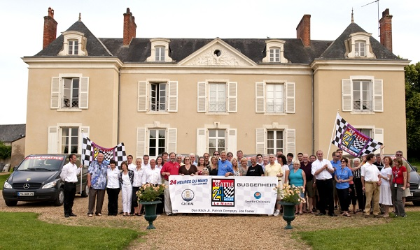 A Dettaglio tour group at their Le Mans accommodation in 2009