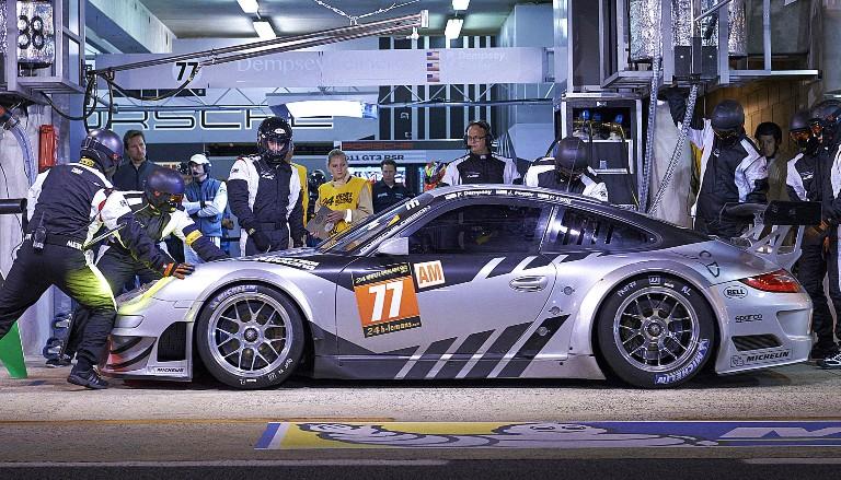 Porsche takes a pit-stop at Le Mans