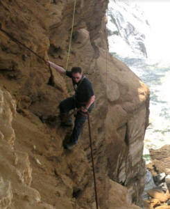 Haydon abseiling in Morocco