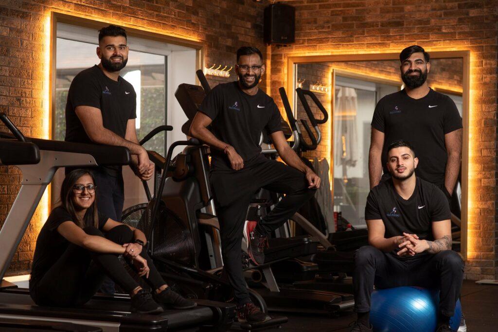 Rush and the R&D Physio team. Photo by Jai Shah jaishahphotography.com