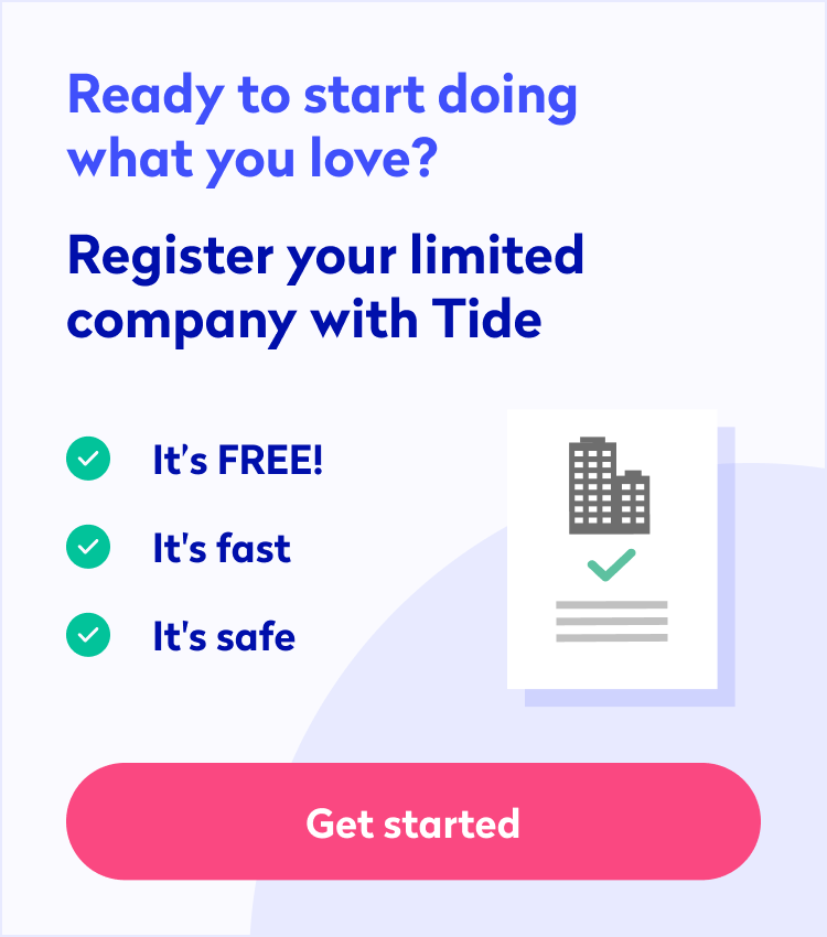 Register your business with Tide