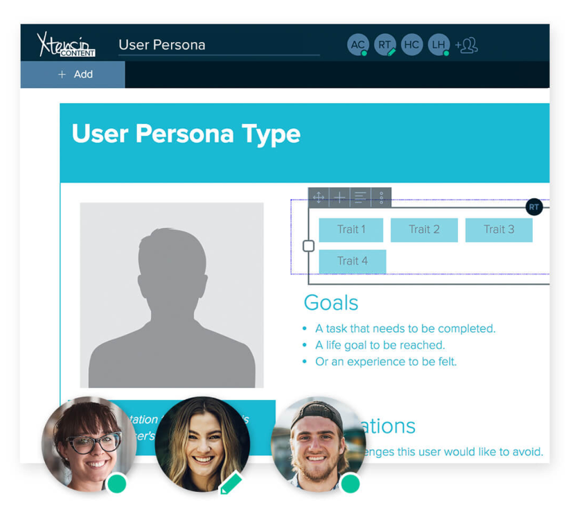 Example of a user persona template