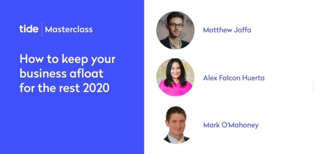 Masterclass - How to keep your business afloat in 2020