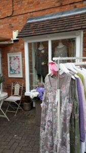 Shabby Chic Sister, clothing rails outside