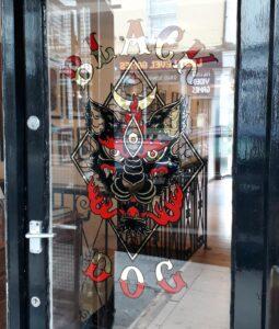 Doorway, Black Dog Tattoo