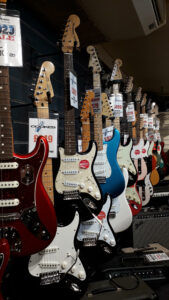 Guitars at Cookes, Norwich