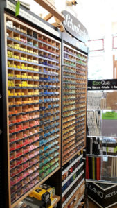 Pastels on display at Norwich Art Supplies