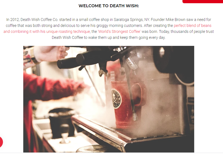Death Wish Coffee's USP