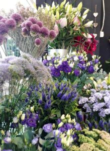 Flowers for sale at A G Price Florist, Hackney, London