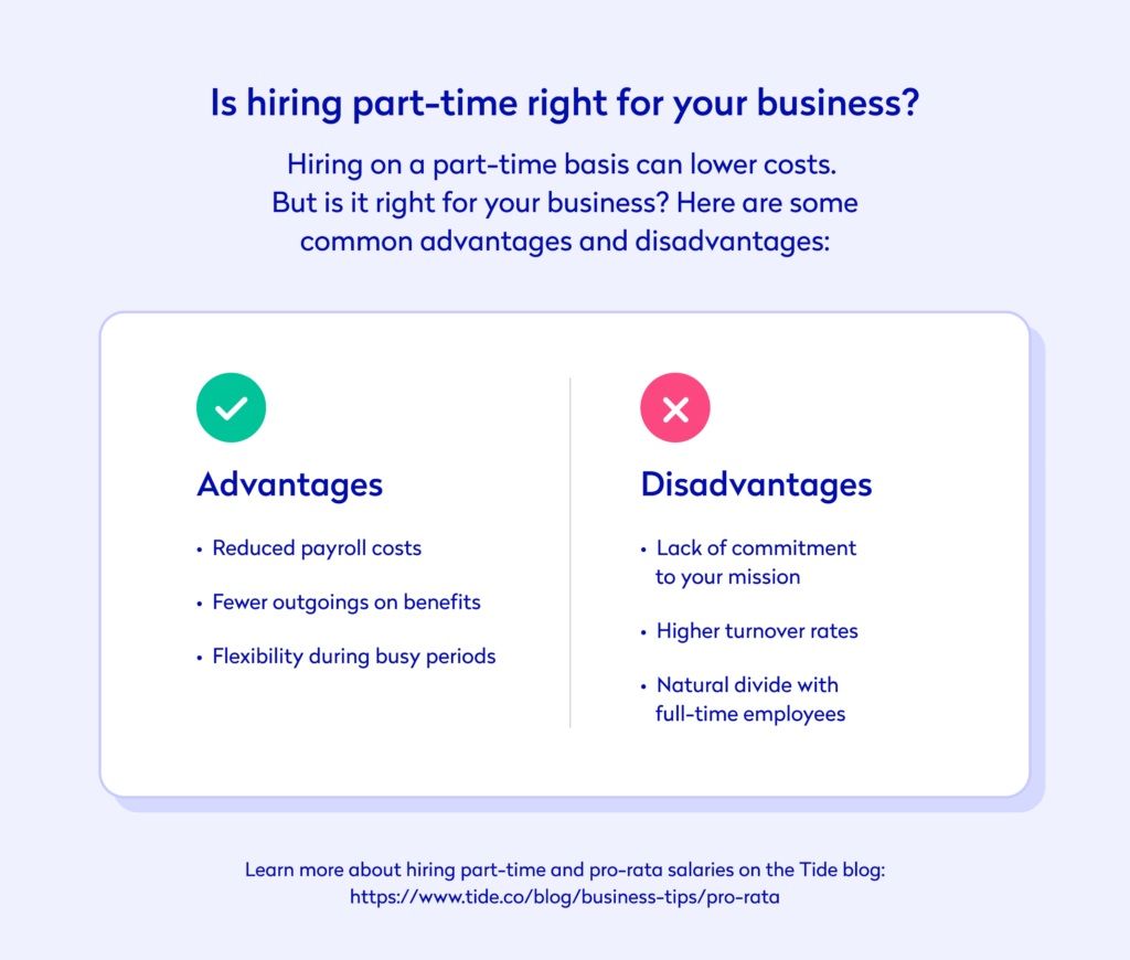 Advantages and disadvantages of hiring part-time employees for your business