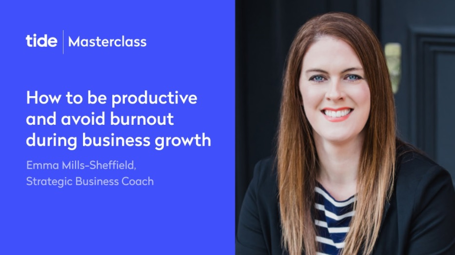 Masterclass - How to be productive and avoid burnout