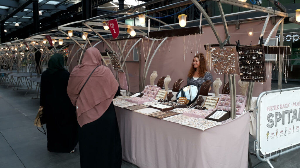 Nur at her stall, NB Accessories