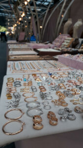 Jewellery for stall at NB Accessories in Spitalfields Market