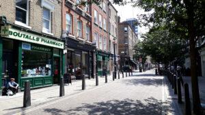 Lamb's Conduit Street in Bloomsbury