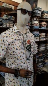 Shirts on display at Simon Carter