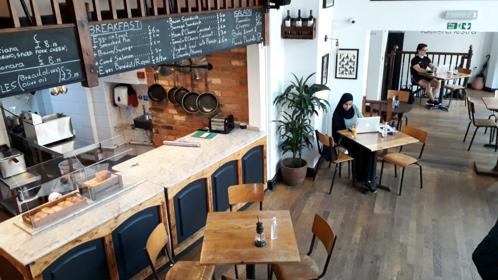 Fidelio, independent cafe in Clerkenwell