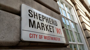 Shepherd Market street sign