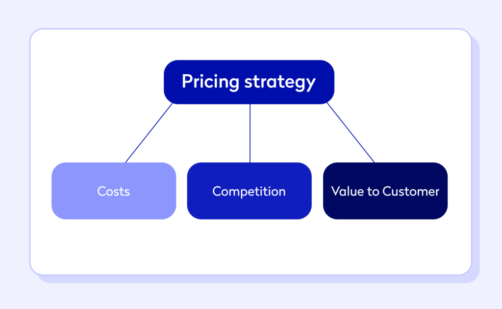 An infographic showing pricing strategy for business