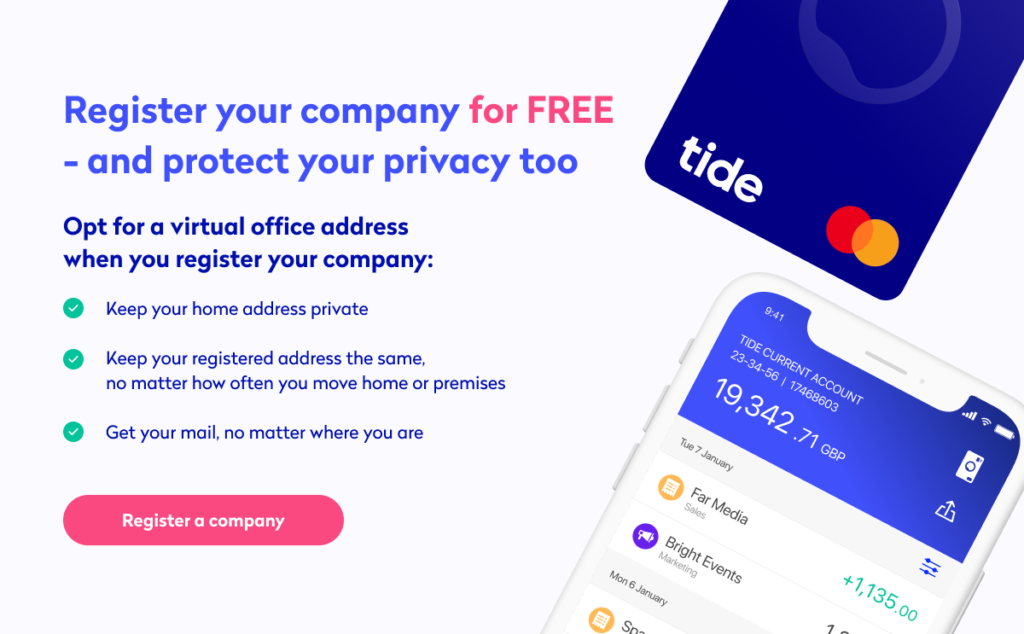 register your company for free and protect your privacy