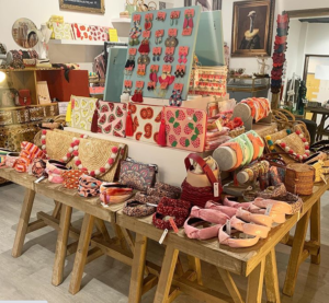 Accessories for sale at the Sister Sister shop in Stratford upon Avon