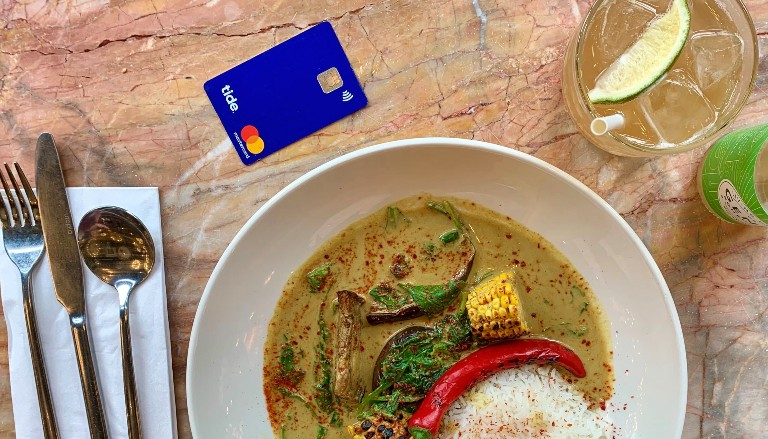 Thai meal and Tide card. Photo by Valentine Hutchings © Tide 2020