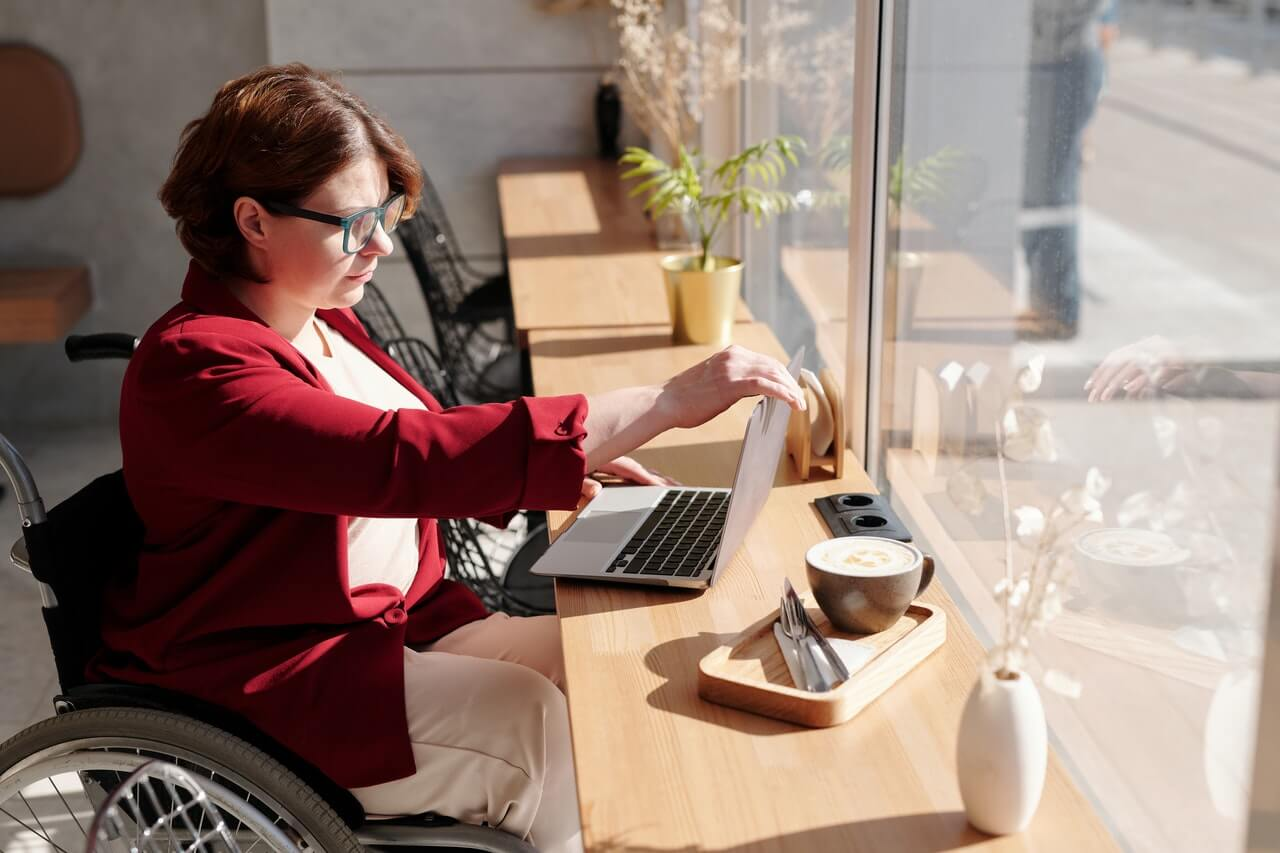 Woman keeping track of expenses